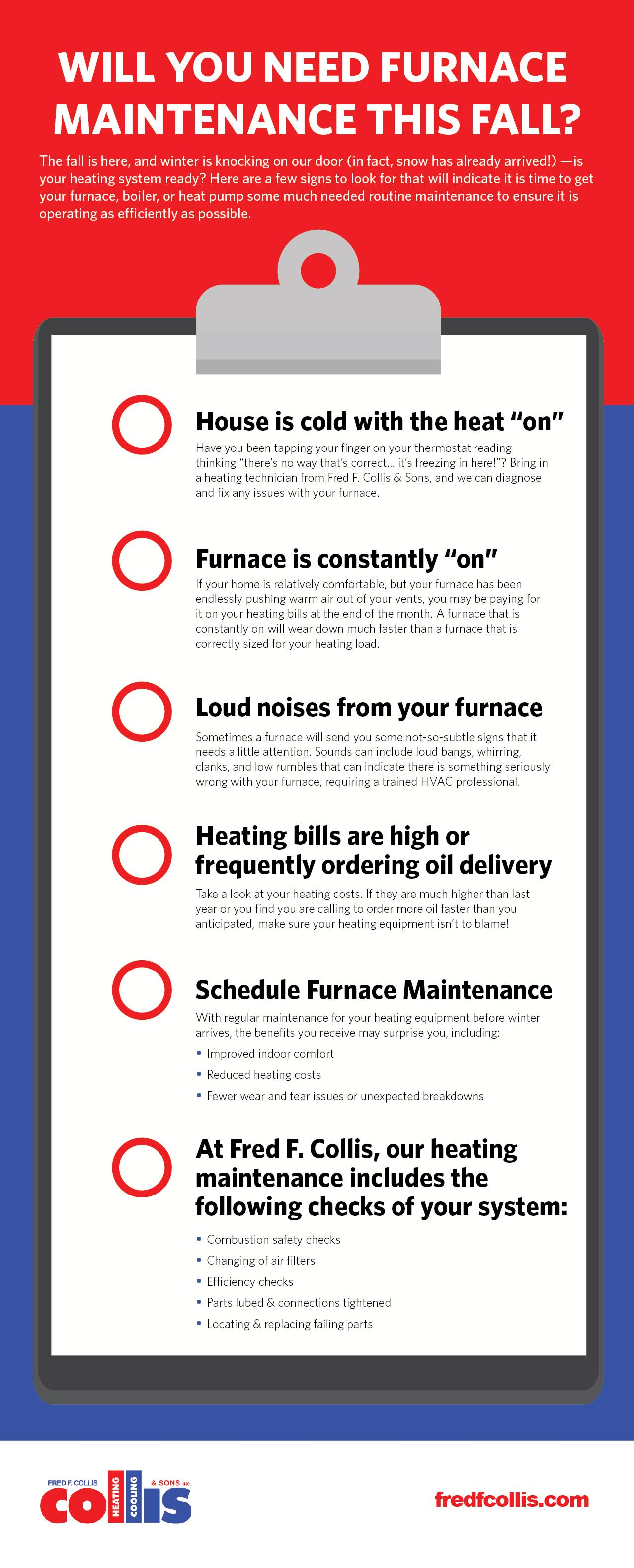 Will You Need Furnace Maintenance this Fall? infographic